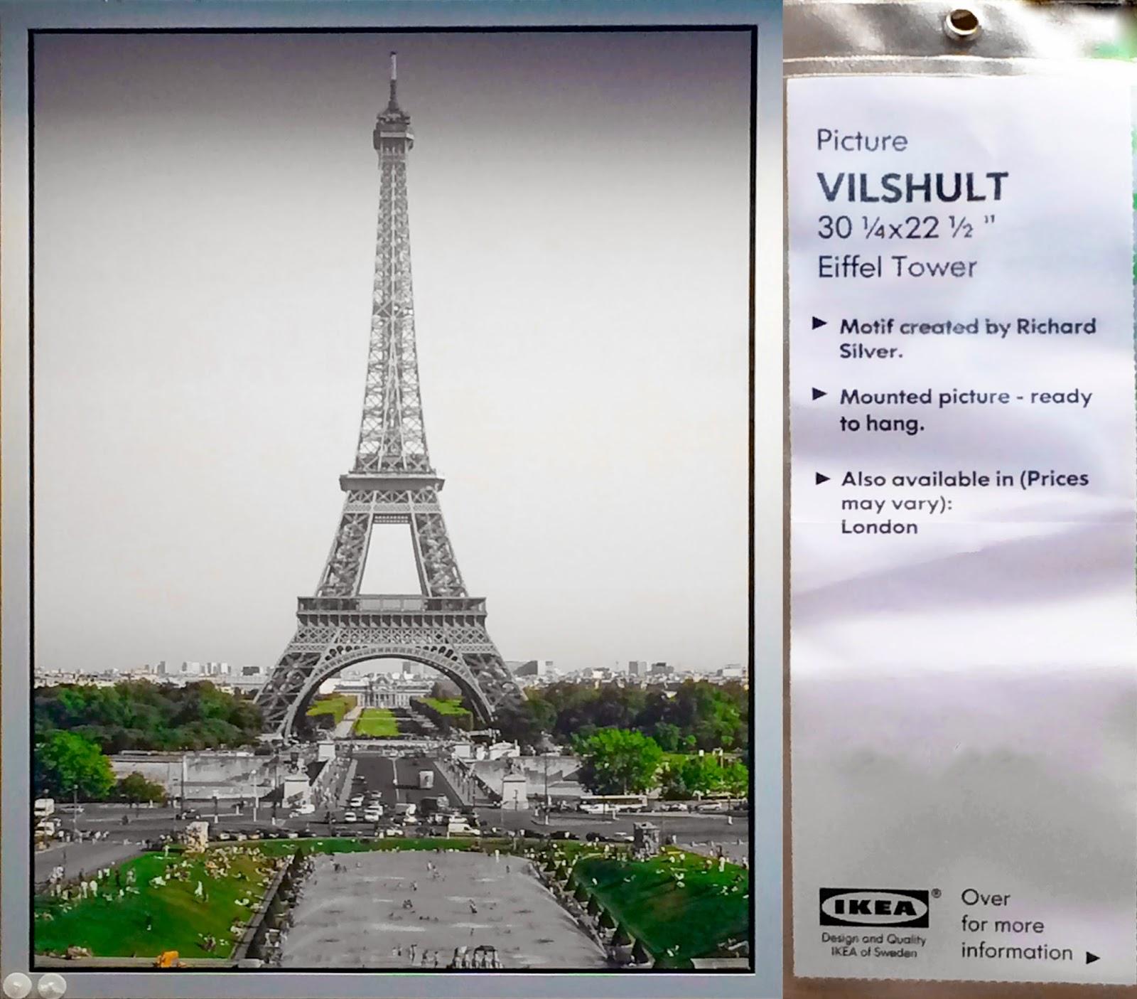 Eiffel tower wall art ikea tilt shift ing the world for Eiffel tower wall mural ikea