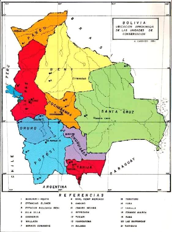 Departamentos de Bolivia