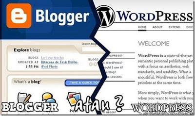 Perbezaan WordPress dan Blogspot