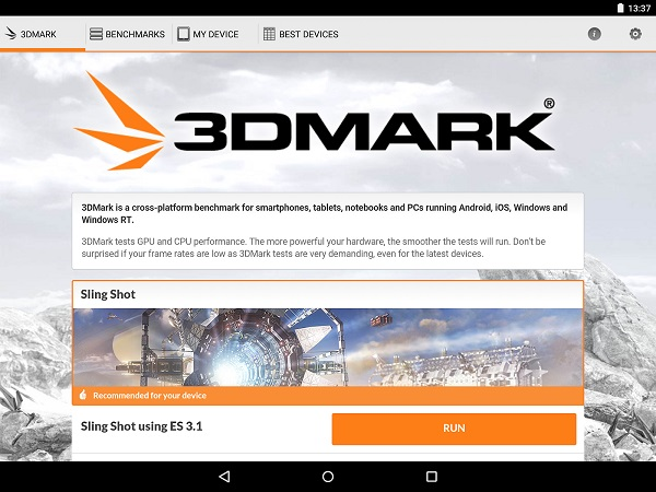 3DMark for Android update adds Sling Shot, a new benchmark test for OpenGL ES 3.1 and ES 3.0