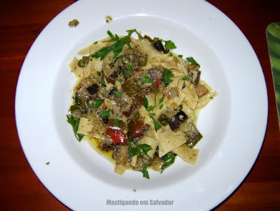 Restaurante Aspargos: Pasta Parpadelle ao Molho Vegetariano