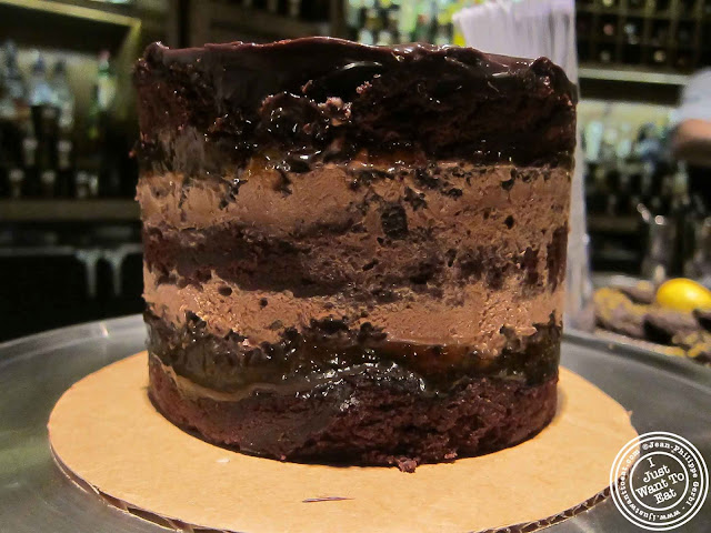 Image Christina Tosi's Dark chocolate chip gelato cake at Häagen-Dazs Arstist Series Event at Pouring Ribbons in NYC, New York