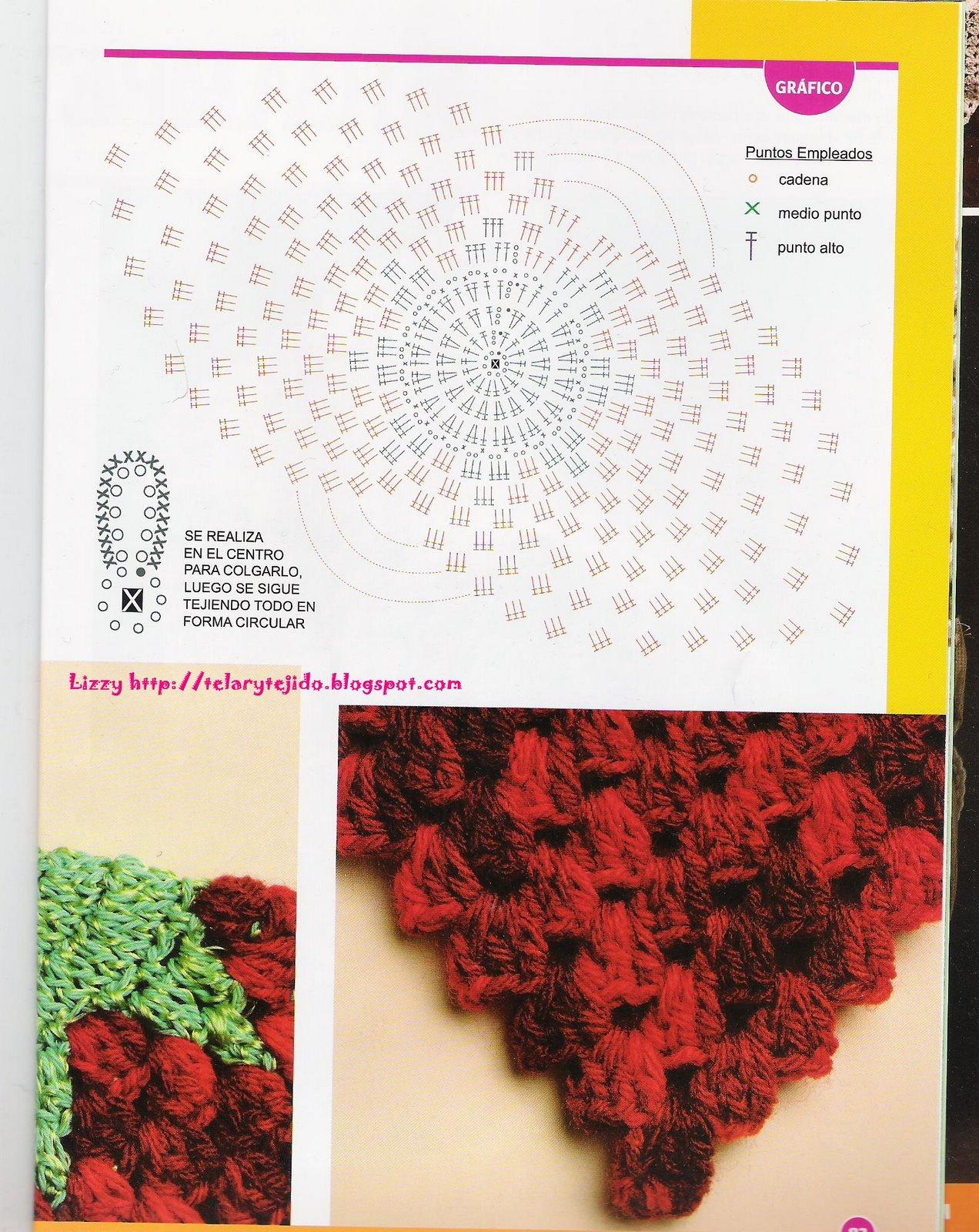 Tejer Agarradera Frutilla Crochet
