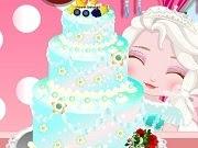 Baby Elsa Birthday Cake