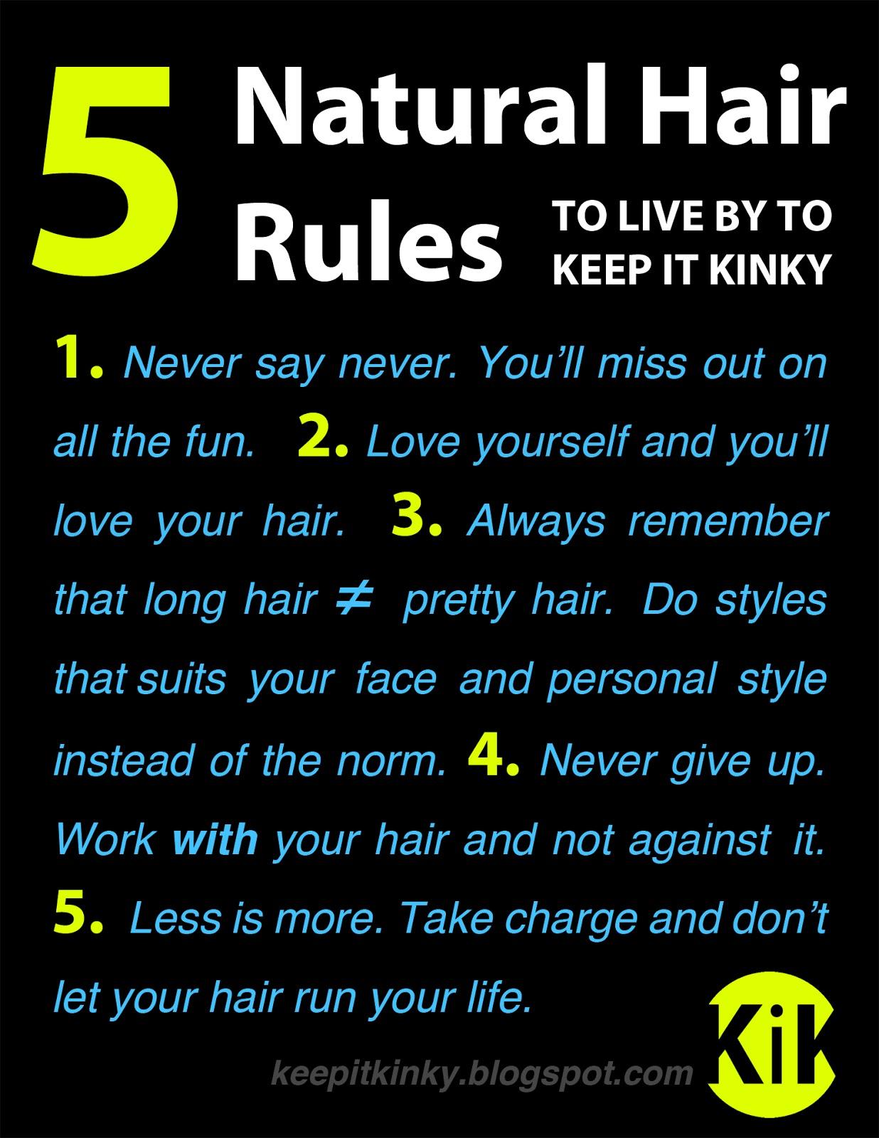 Natural Hair Rules