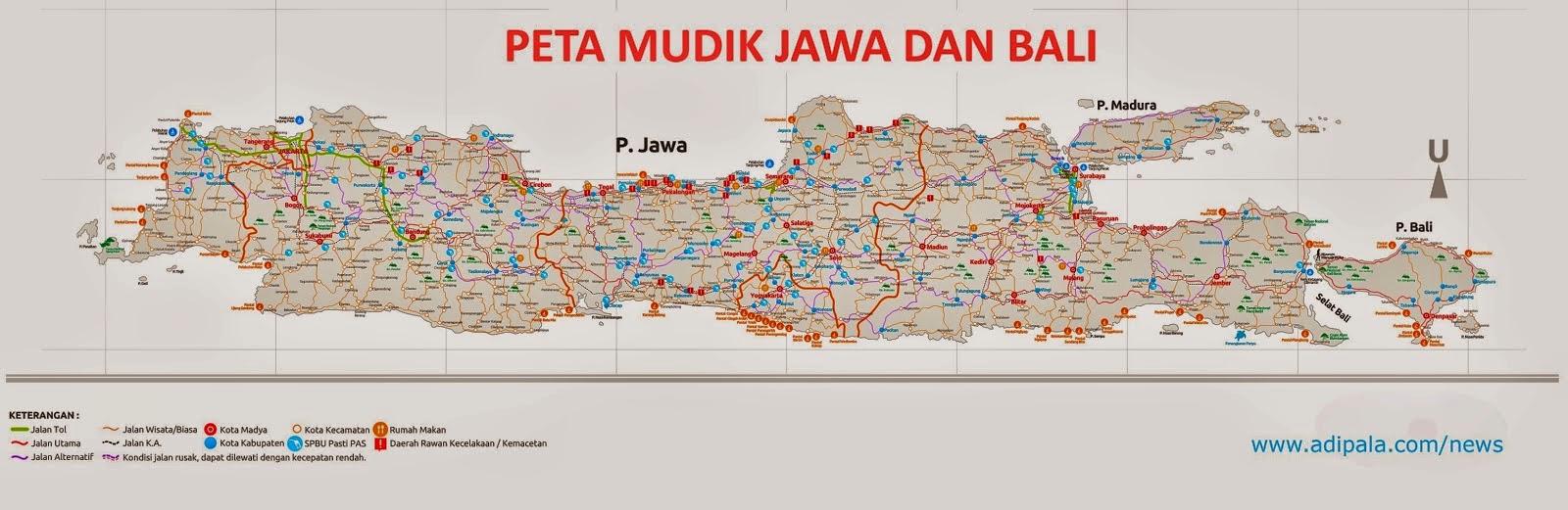 Download Peta Mudik Pulau Jawa Dan Bali Ramadhan 2015 1436 H Belopohan Education