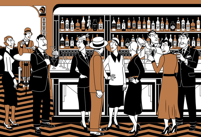 Moran blog barra for Barra bar madera dibujo