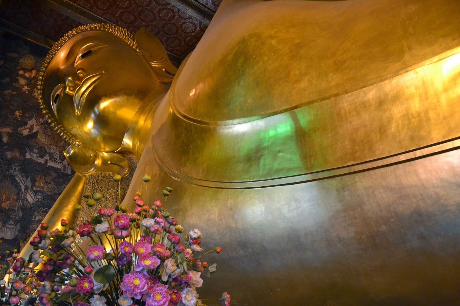 what pho, bouddha couché, bangkok, voyage, quartier des temples, temples