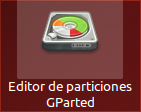 Editor de particiones GParted icono