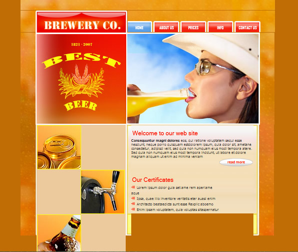 Ecommerce Site Name : Brewery Red Orange