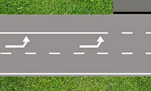 التشوير الأفقي : الخطوط والأسهم المرسومة على الطريق