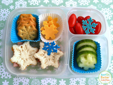 Snowflake EasyLunchboxes bento school lunch