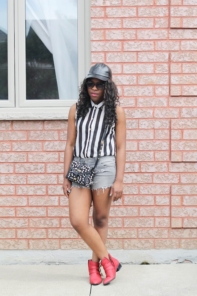 fashion blogger, canadian fashion blogger, leather cap, monochrome outfit, forever 21