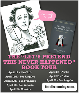 the bloggess let's pretend this never happened book tour