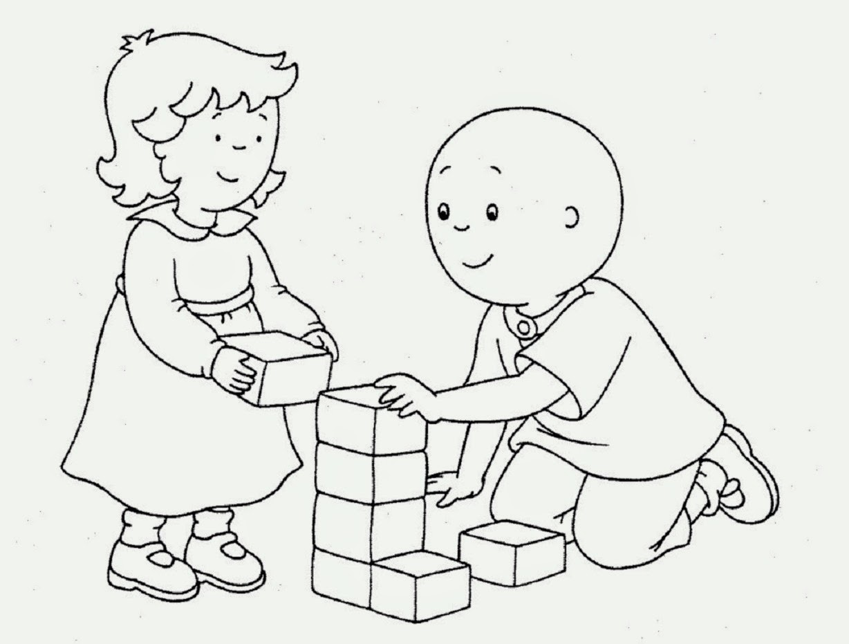 colour drawing free wallpaper  caillou coloring drawing