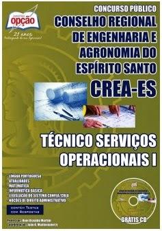 Apostila Concurso Público CREA – ES 2014 para Técnico Serviços Operacionais I