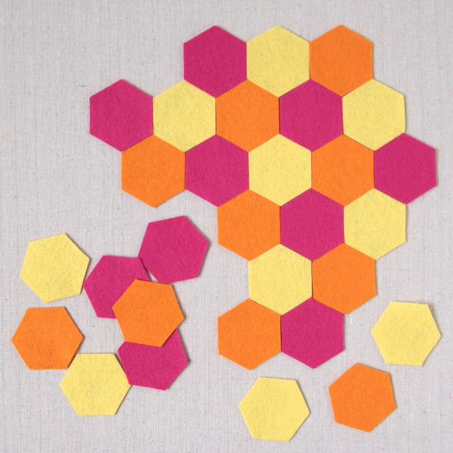 hexagon felt shapes