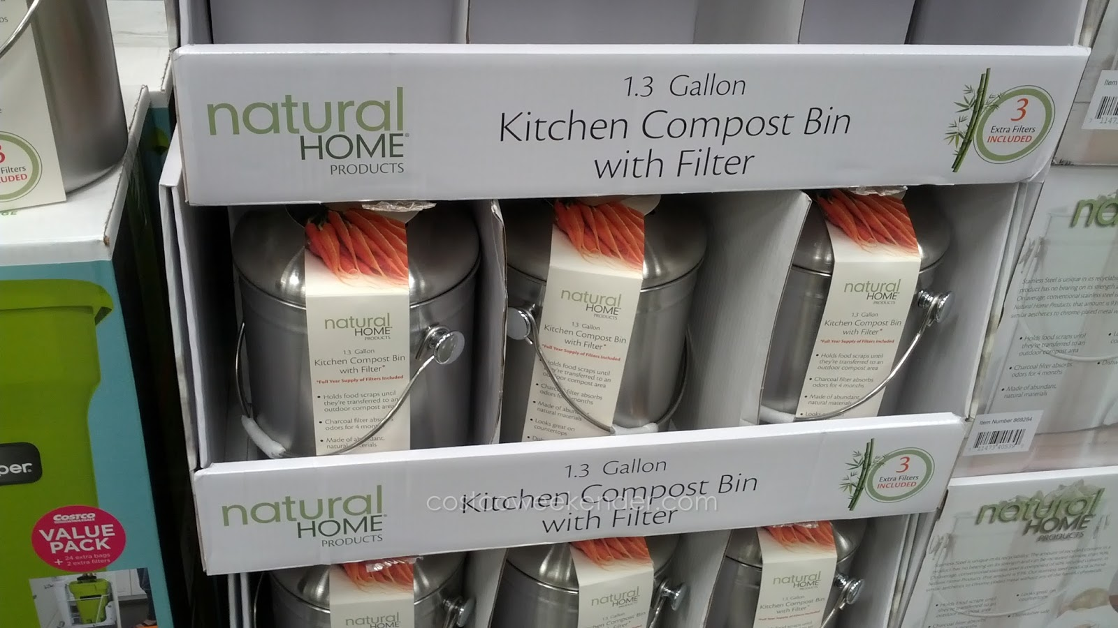 Natural Home Kitchen Compost Bin For Your Food And Kitchen Scraps