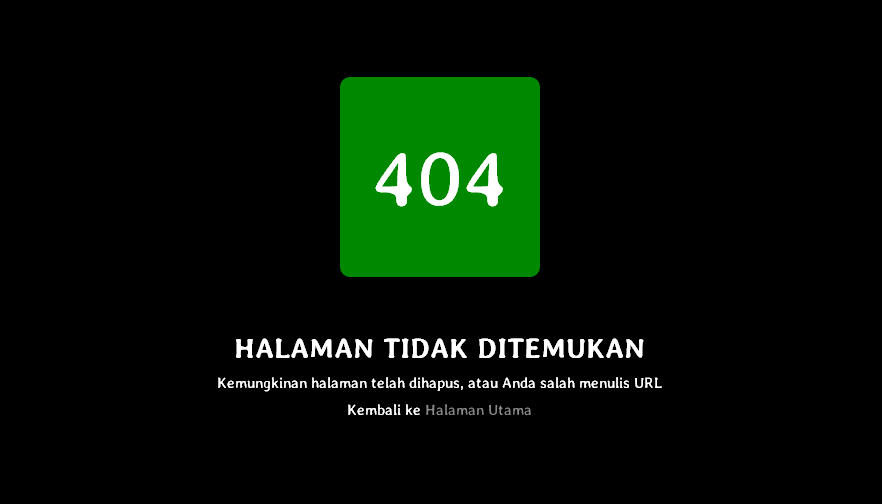 Halaman 404 error Not Found