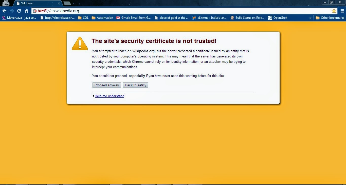 How to handle ssl certificate error on webpage using selenium webpage example after handling ssl certificate error in chrome browser xflitez Choice Image