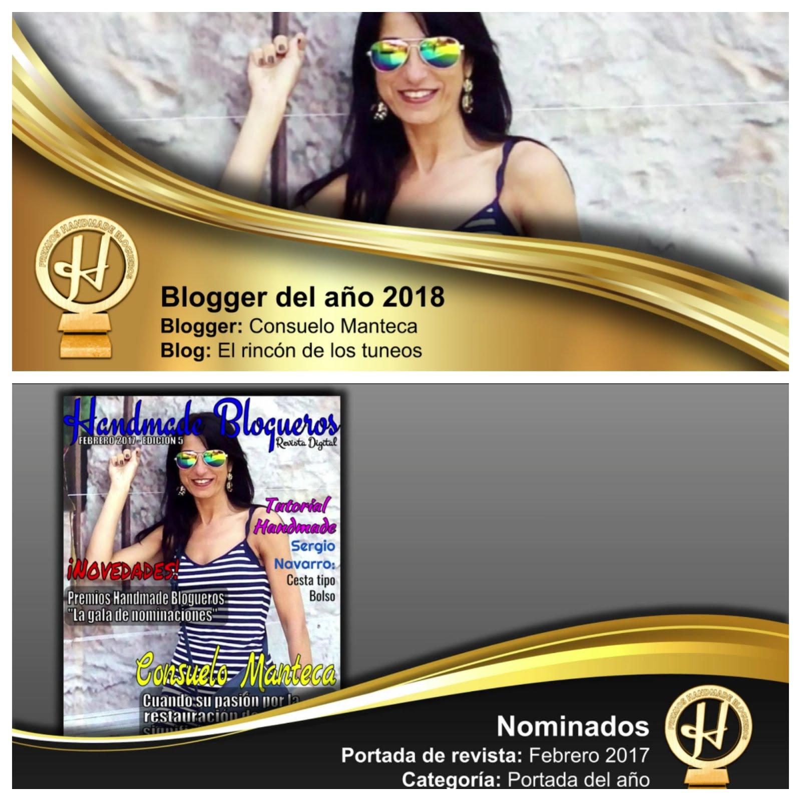 Ganadora mejor portada y mejor Bloguer  2018