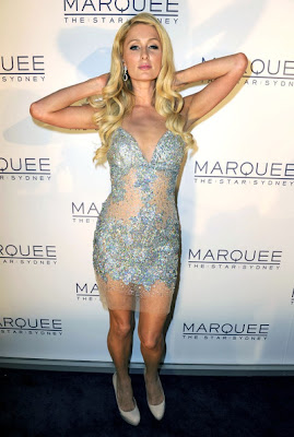 gorgeous looks & : paris hilton posses at the opening of marquee night club photo gallery