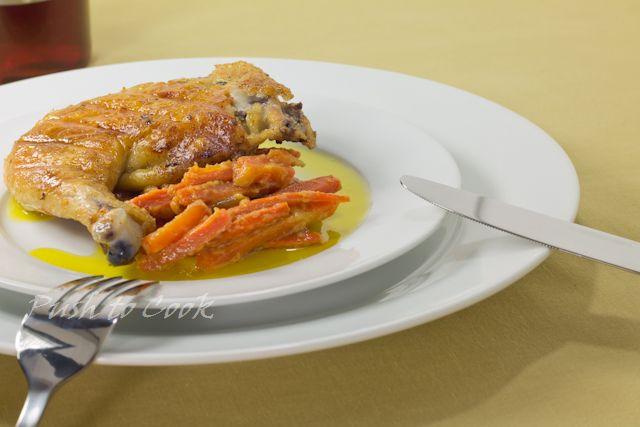 Глазированная морковь для гарниров