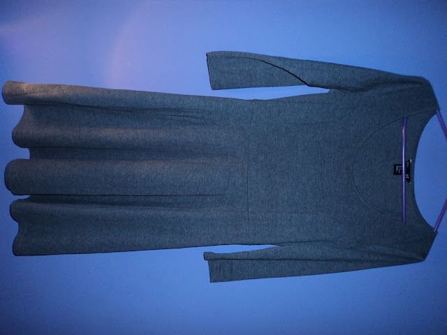 new in fashion h&m grey cotton dress