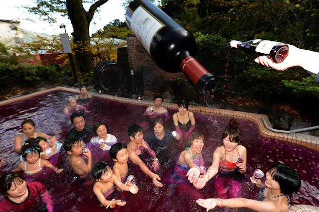 Wine Bath in Japan