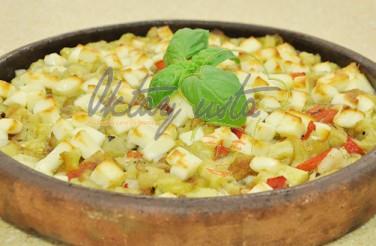 Kiremitte Kaşarlı Patlıcan Tarifi