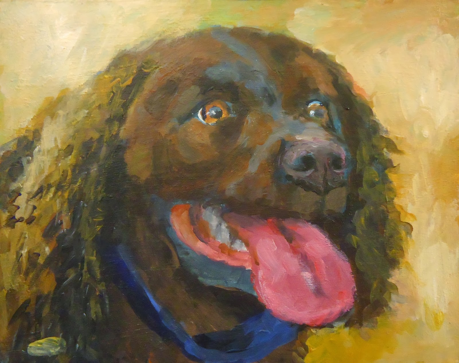 Dog painting by Fred Bell