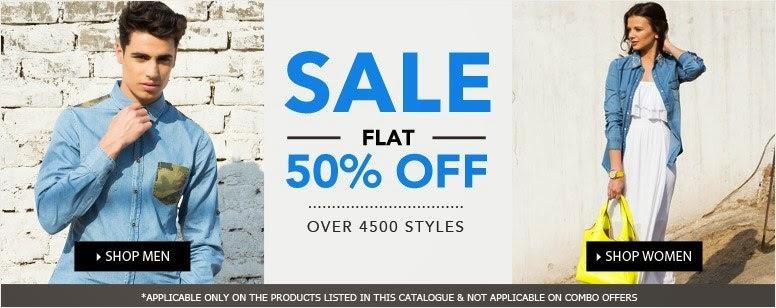 Flat 50 % off