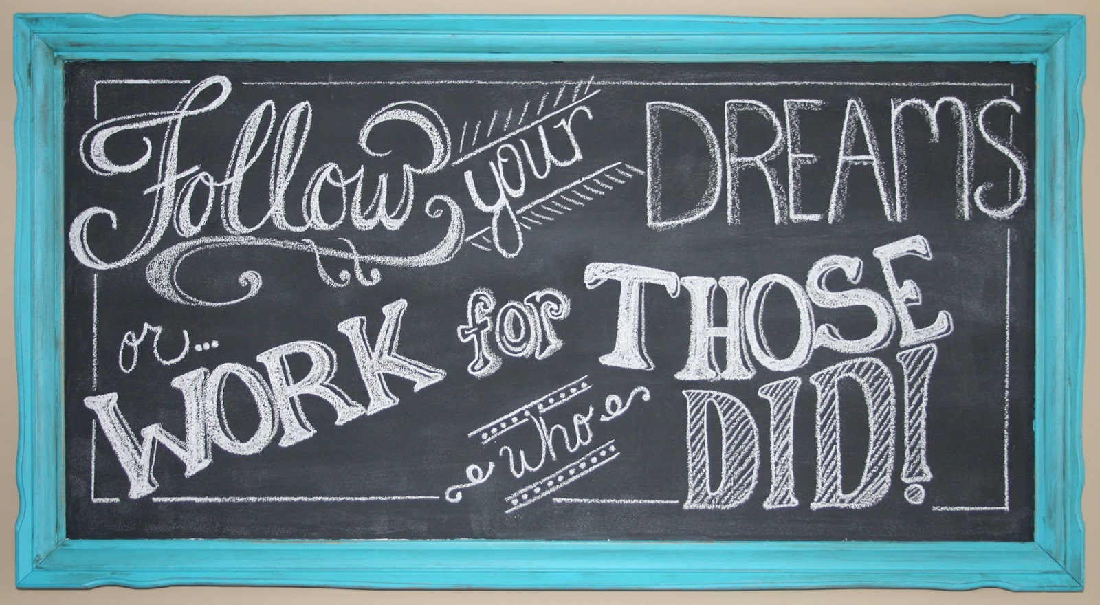 chalk board writing