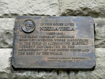 Nikola Tesla plaque