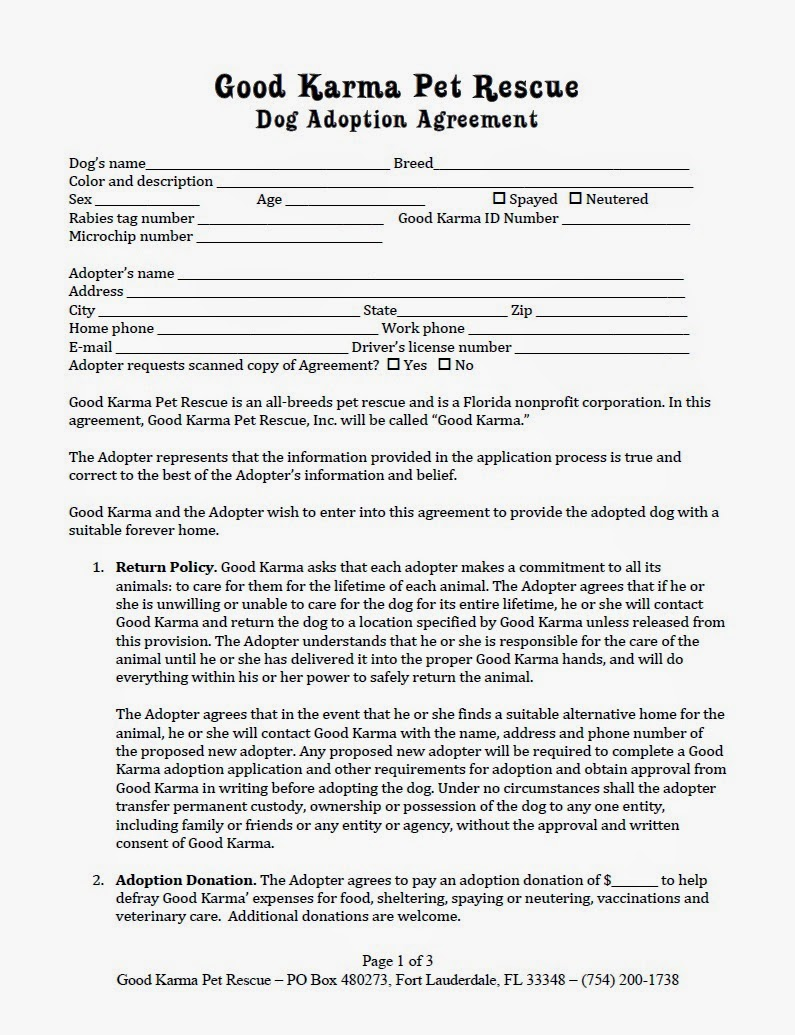 Outstanding Pet Adoption Application Template Gallery - Professional ...