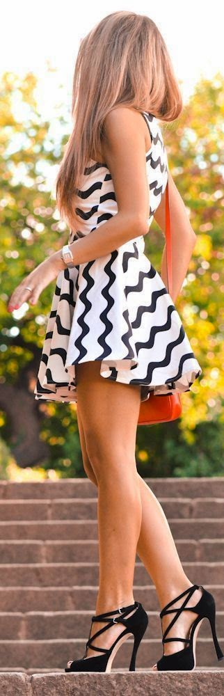 Mini dress with high heeled, Outdoor fashion inspiration