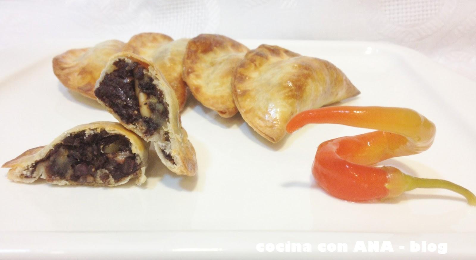 Cocina con ana empanadillas de morcilla con manzana - Ana cocina facil ...