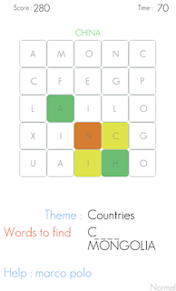 Screenshots of the Word search for Android tablet, phone.