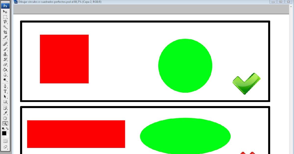 AYTUTO: Dibujar círculos y cuadrados perfectos en PHOTOSHOP