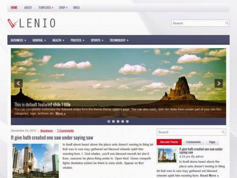 Lenio - Free Wordpress Theme