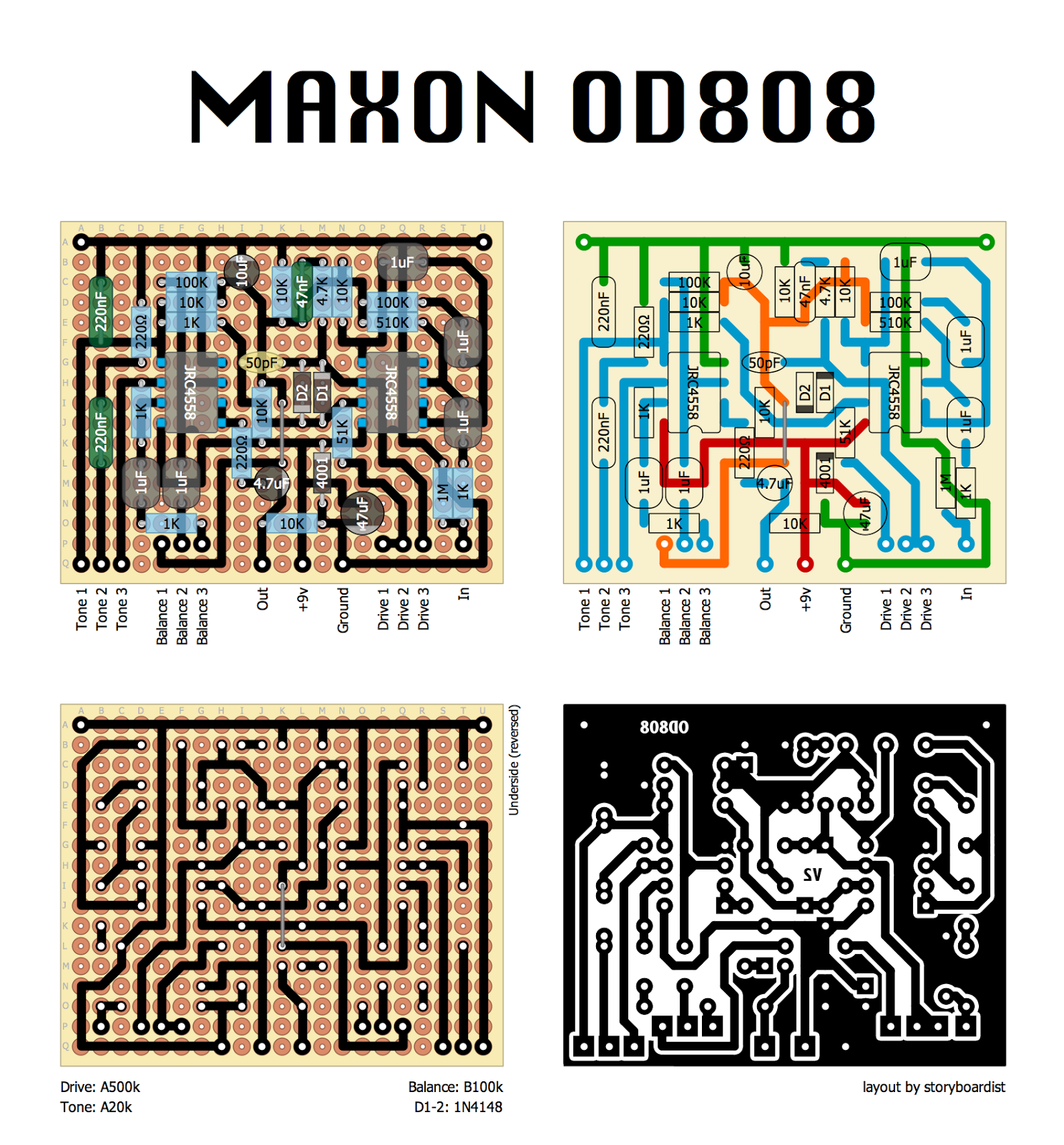 perf and pcb effects layouts maxon od808 an error occurred