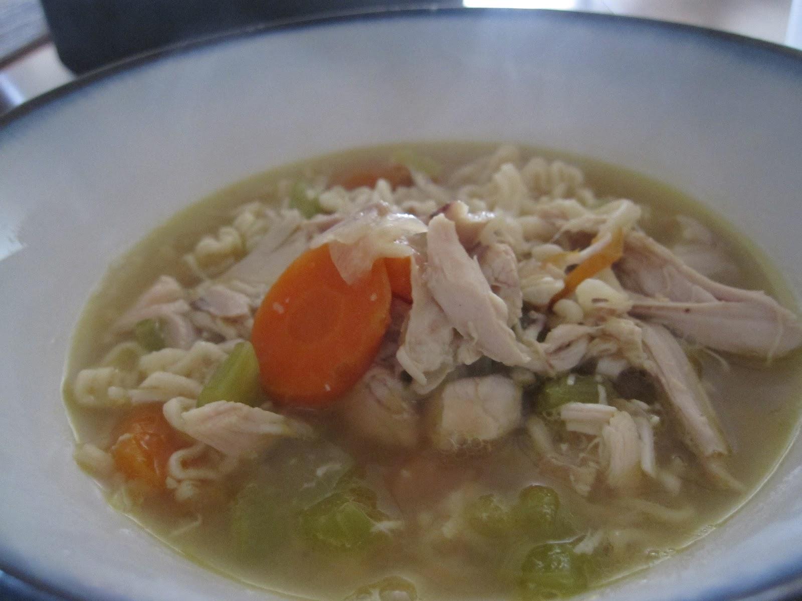 The Bodily Recipe Box: Chicken-Ramen Soup