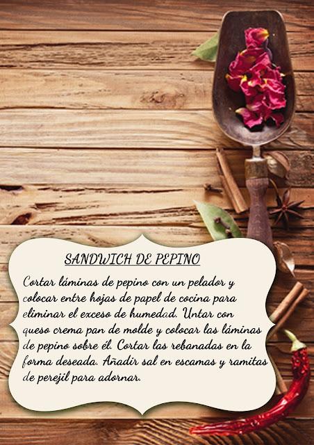Receta de sándwich de pepino