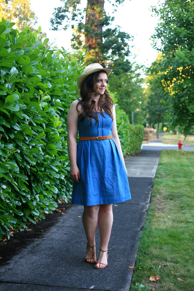 The little denim dress for a dude ranch party and bridal for Diy party dress