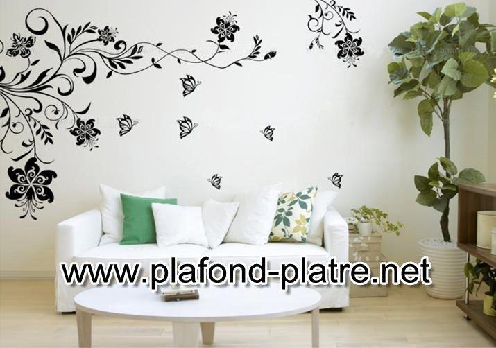 D coration de salon marocain les stickers muraux pour salon marocain - Stickers pour plafond ...