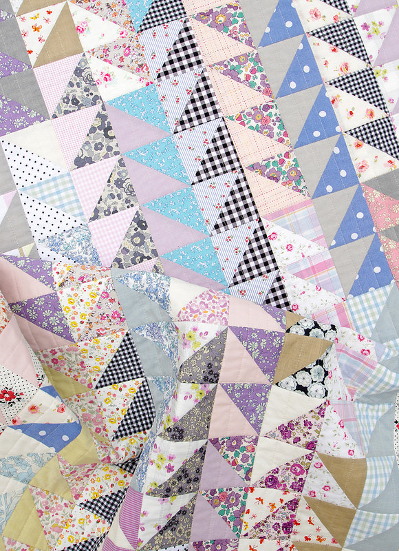 Oakshott Scandinavia Half Square Triangle Quilt | Red Pepper Quilts 2015