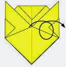 Bước 7: Lật mặt đằng sau tờ giấy ra phía trước.