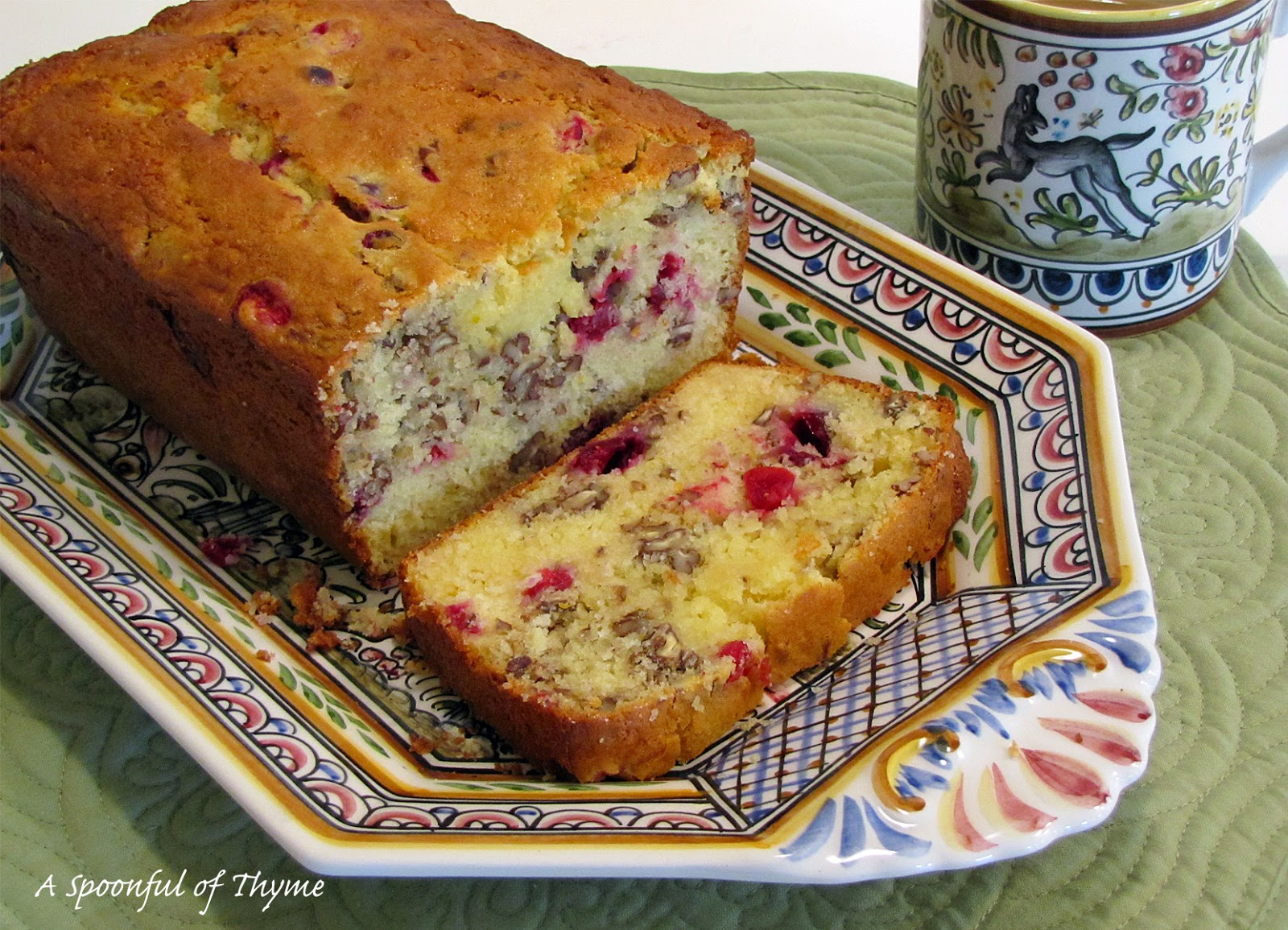 A Spoonful of Thyme: Cranberry Orange Yogurt Bread