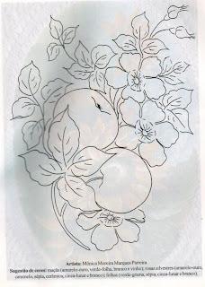 Riscos para pintura de Frutas e Legumes