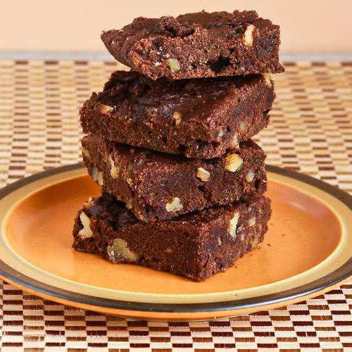 Low-Sugar and Whole Wheat Brownies.